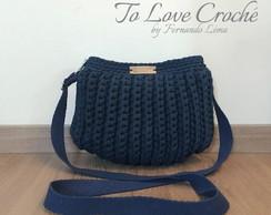 b13a94b36 Bolsa saco em fundo de couro no Elo7 | To Love Crochê (D6F5E8)