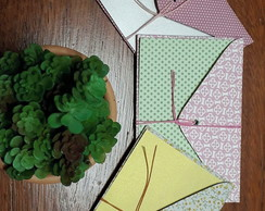 Kit 3 ENVELOPES DE TECIDO