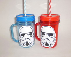 Caneca Mason Jar de 400ml - Star Wars - Stormtroopers