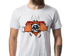 Camiseta Branca Superman Goku cod027
