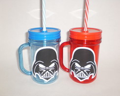 Caneca Mason Jar de 400ml - Star Wars - Darth Vader