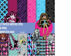 Kit Papel Digita Monster High