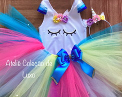 Roupa personalizada do unicórnio colorida