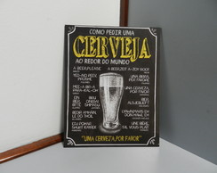 Placa Decorativa Cerveja no Mundo