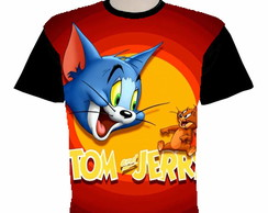 camiseta tom e jerry estampa total