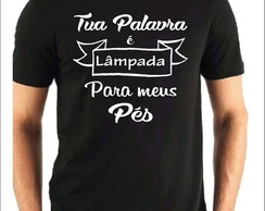 f77dea093d ... Camiseta Gospel Camiseta Cristã Tua Palavra é Luz