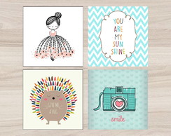 Kit Quadro Infantil - You Are My Sunshine