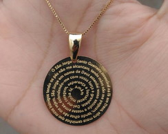 a1f6d61eba81e ... Gargantilha Medalha Oração São Jorge em Banho de Ouro