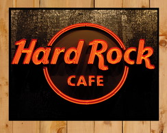 Quadro Poster Placa Hard Rock Cafe Vintage 30x42cm A3