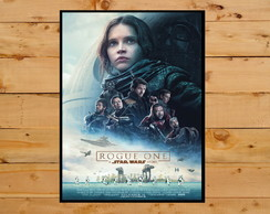 Quadro Decorativo Rogue One Star Wars 30x42cm A3