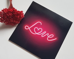Placa Decorativa MDF LOVE