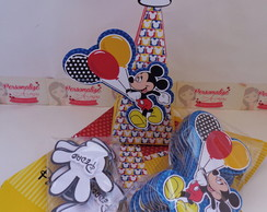 Caixa Piramide Mickey Pegue e Monte