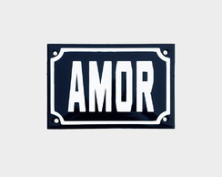 "Placa Decorativa ""AMOR"" 10x15"