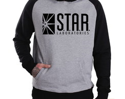 Blusa Moletom Canguru The Flash Star Laboratories