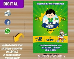CONVITE DIGITAL COPA DO MUNDO RUSSIA