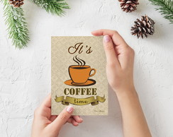 "Placa decorativa MDF ""It's Coffee Time"""