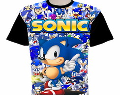 camiseta sonic estampa total