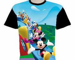 camiseta Mickey Minnie Mouse estampa total