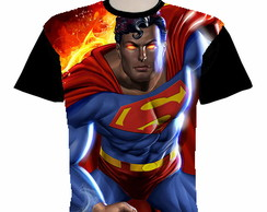 camiseta superman estampa total