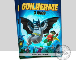 Arte Digital Capa Revista Colorir Batman Lego