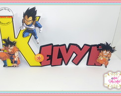 nome cursivo letra 3d dragon ball z
