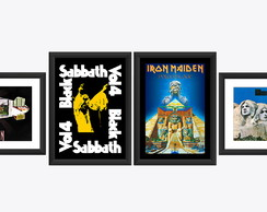 4 Quadro Black Sabbath Iron Maiden Led Zeppelin Deep Purple