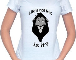 Camiseta Baby Look Scar The Lion King