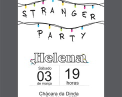"Convite Digital ""Stranger Party"" 2"