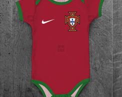 7431b1db37 ... Body Portugal Seleção Portuguesa Infantil Bebê Personalizado