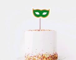 846e94245f ... Topo de bolo topper grande - Brasil máscara carnaval