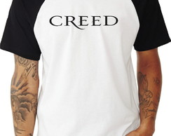 Camiseta Raglan Banda de Rock Creed