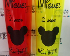 Copo Long drink person com arte preta MICKEY