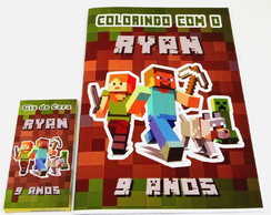 KIT LIVRO DE COLORIR MINECRAFT