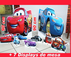 Totem Kit De Chão Mcqueen Carros E Display De Mesa
