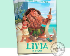 Arte Digital para revista Colorir Moana