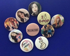 Kit 10 Bottons / Broches BLACKPINK