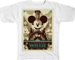 Camisa Camiseta Blusa Steamboat Willie Mickey Mouse