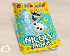 Revista colorir Olaf Frozen Fever