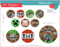 Kit Digital Toppers Minecraft