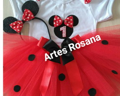 Fantasia tutu Minnie vermelha smash