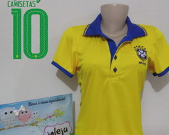 Camiseta Polo Copa do Mundo personalizada