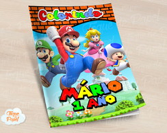Revista colorir Super Mario