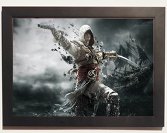 Quadro Poster Cartaz com Moldura Assassin's Creed