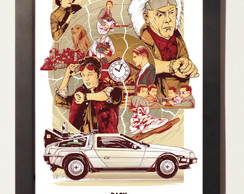 Poster Com Moldura Back To The Future De Volta Para O Futuro