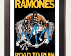 The Ramones Pôster Quadro Retro Moldura Geek Art Pop