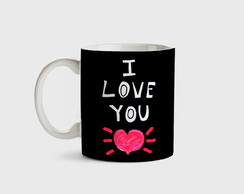 Caneca de porcelana I Love You
