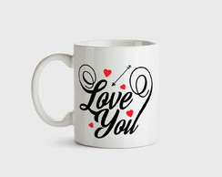 Caneca de porcelana Love You