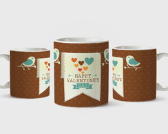 Caneca de porcelana Happy Valentine's Day