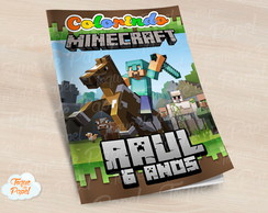Revista colorir Minecraft