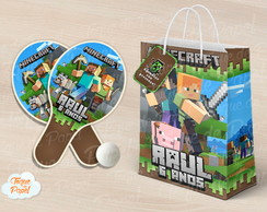 Kit Ping Pong sacola Minecraft